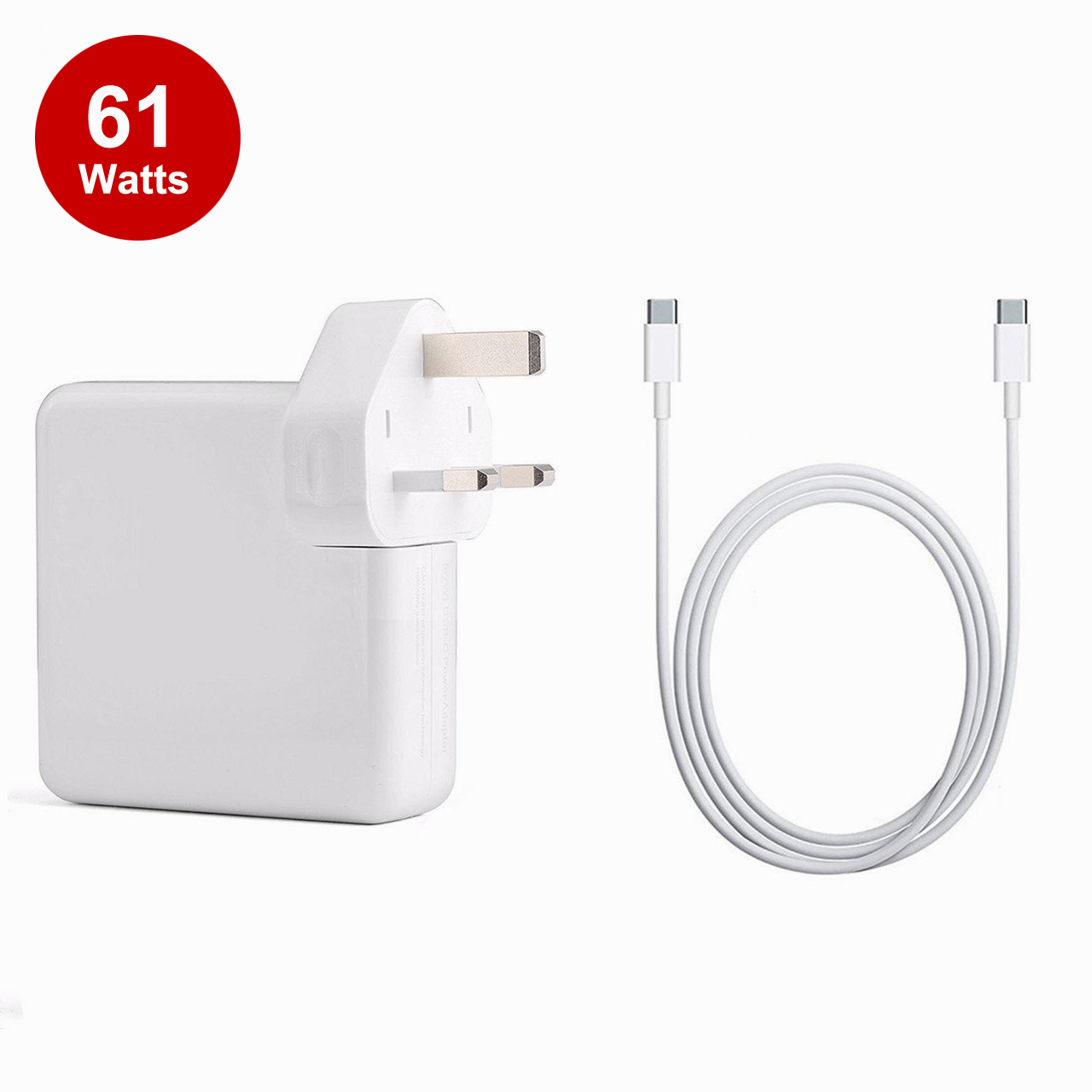61W USB-C Power Adapter Charger for MacBook Pro 13 inch UK Plug